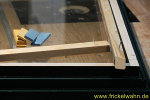 Bauwagen Fenster Einglasen Rahmenleiste I