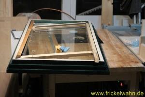Bauwagen Fenster Einglasen Rahmenleiste II