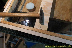 Bauwagen Fenster Einglasen Rahmenleiste III